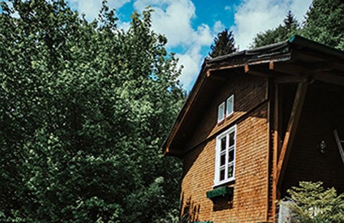 Hütte-am-Waldrand-mit-Bach